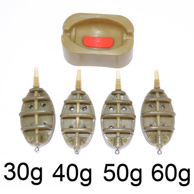 Carp Fishing Feeder Tool Carp Lead Sinker Free Lead Carp Fishing Lead 15G 20G-Hirisi Fishing Tackle (HongKong) Ltd Store-New 30g40g50g60g-Bargain Bait Box