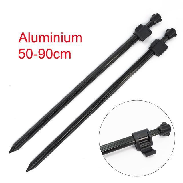 Carp Fishing Rod Pod Fishing Bank Sticks Fit Bite Alarm 55-100Cm For Carp Coarse-Hirisi Fishing Tackle (HongKong) Ltd Store-2pcs 50x90cm-Bargain Bait Box