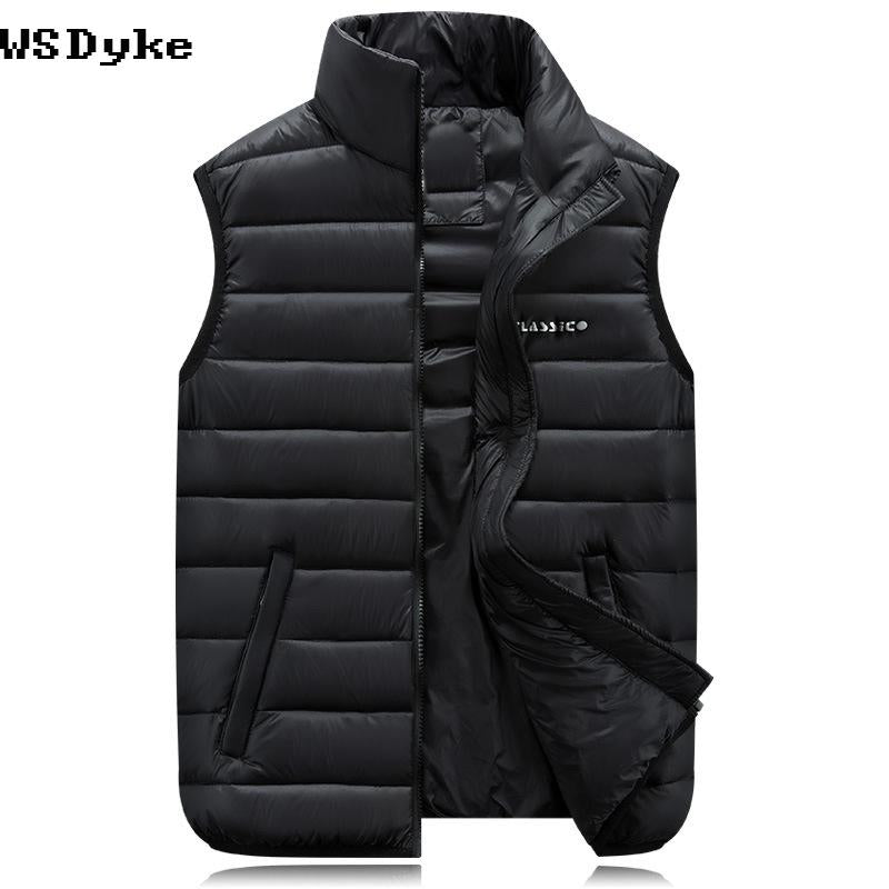 Casual Slim Fit Colete Masculino Stand Collar Plus Size Vests Of Men-Vests-Bargain Bait Box-Black-M-Bargain Bait Box