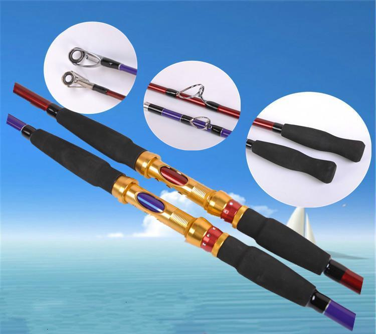 Cheap 1.8/2.1/2.4/2.7M Carbon Hard 2 Section Spinning Lure Rod Superhard Fishing-Spinning Rods-ZHANG 's Professional lure trade co., LTD-Red-1.8 m-Bargain Bait Box