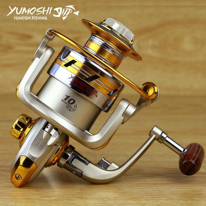 Cheap Spinning Reels 12Ball Bearing 5.2:1/5.5:1G-Ratio Fishing Reel Saltwater-Spinning Reels-HUDA Sky Outdoor Equipment Store-1000 Series-Bargain Bait Box