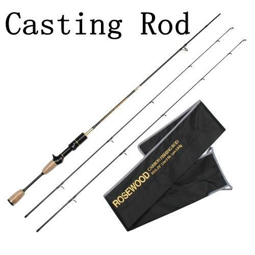 Cheap Ul Spinning Rod 1.8M 0.8-5G Lure Weight Ultralight Spinning Rods 2-5Lb-ROSEWOOD Fishing Company Store-Black-Bargain Bait Box