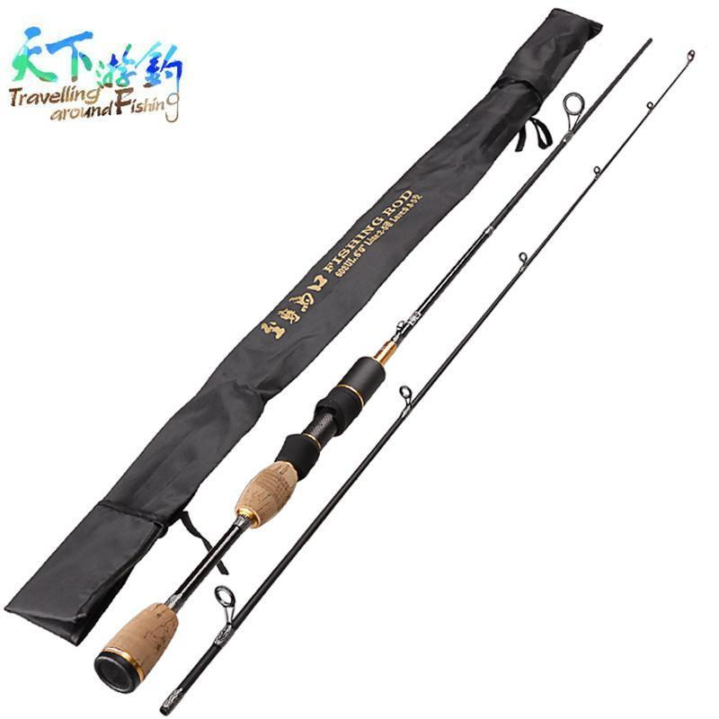 Cheap!1.8M Ul 2 Sections Spinning Fishing Rod Lure Weight 0.8-5G Opsariichthys-Spinning Rods-KeZhi Fishing Tackle Store-Bargain Bait Box