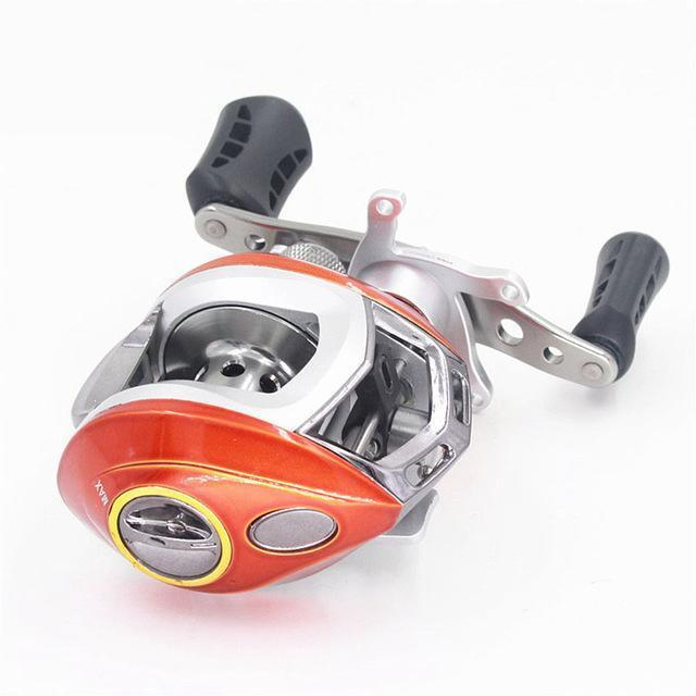 Classic Baitcasting Reel Right/Left Hand Fishing Gear Ratio 6.3:1 6+1 Bb Bait-Baitcasting Reels-duo dian Store-Red-Left-Bargain Bait Box