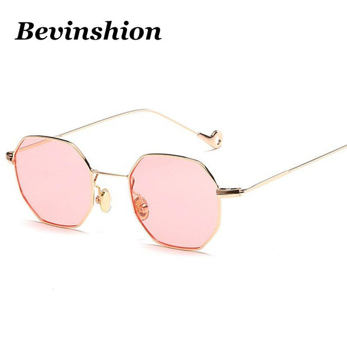 Color Lens Tinted Square Sunglasses Women Small Frame Red Blue Polygon-Sunglasses-lilychen Store-Black All Grey-Bargain Bait Box