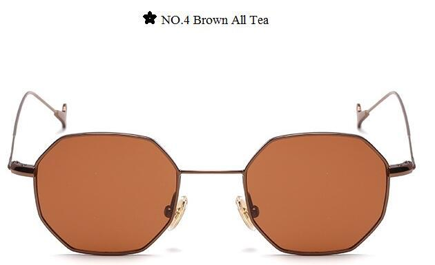 Color Lens Tinted Square Sunglasses Women Small Frame Red Blue Polygon-Sunglasses-lilychen Store-Brown All Tea-Bargain Bait Box