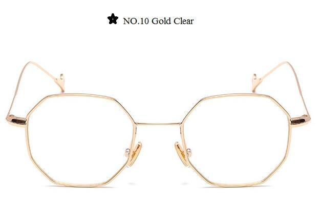 Color Lens Tinted Square Sunglasses Women Small Frame Red Blue Polygon-Sunglasses-lilychen Store-Gold Clear-Bargain Bait Box