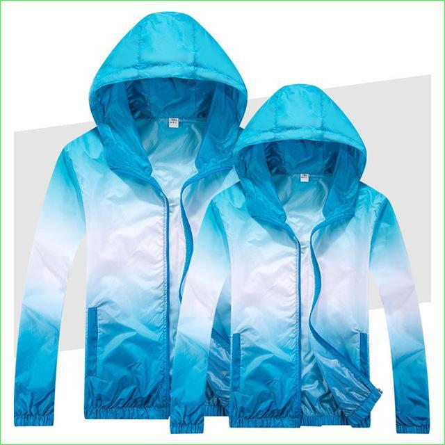 Colorful Windproof Running Coat Man Woman Thin Breathable Sports Fishing Jackets-Jackets-Bargain Bait Box-Blue-S-Bargain Bait Box