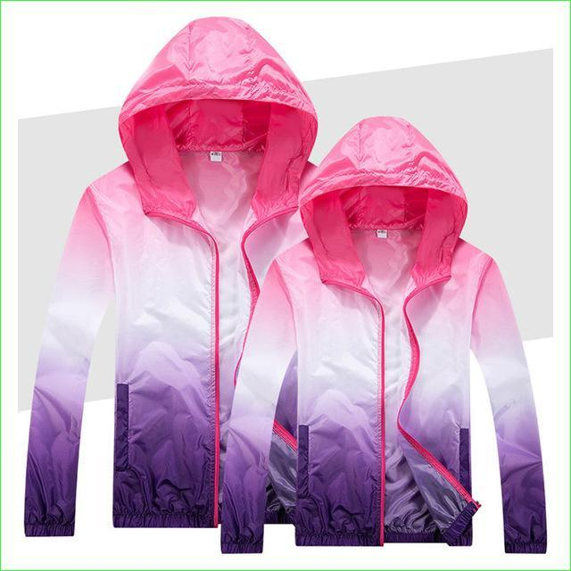 Colorful Windproof Running Coat Man Woman Thin Breathable Sports Fishing Jackets-Jackets-Bargain Bait Box-Purple-S-Bargain Bait Box