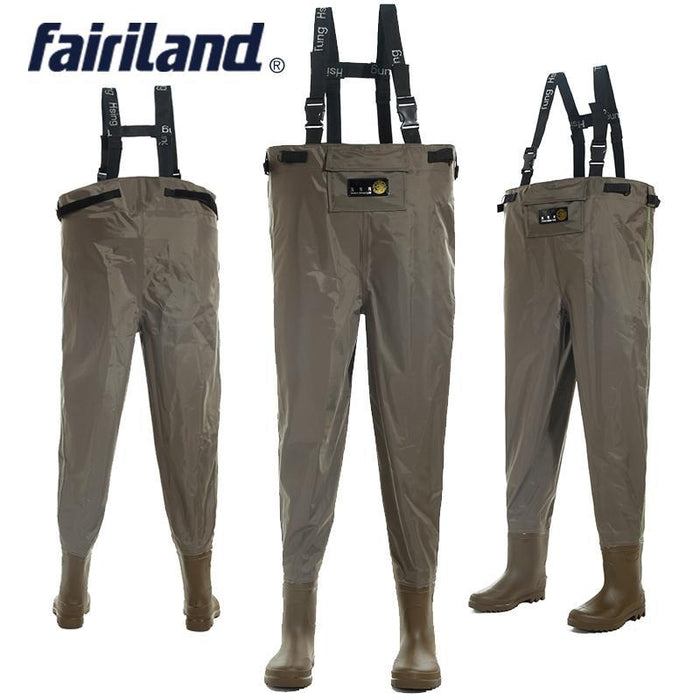 Comfortable Overall High Abrasion Resistance Waist Fish Waders With Wading Pants-Waders Chest-Bargain Bait Box-size 41-Bargain Bait Box