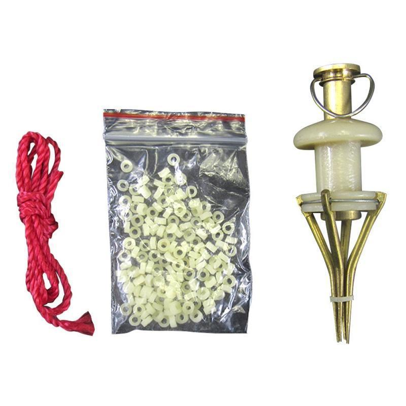 Copper Parts Bloodworm Lure Granule Angleworm Clip Carp Fishing Bander-Workout1 Store-Bargain Bait Box