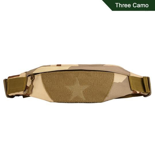 Cordura Motorcycle Tactical Waist Bag Camping Belt Pocket Nylon Camo Military-Bags-Bargain Bait Box-Three Camo-Other-Bargain Bait Box