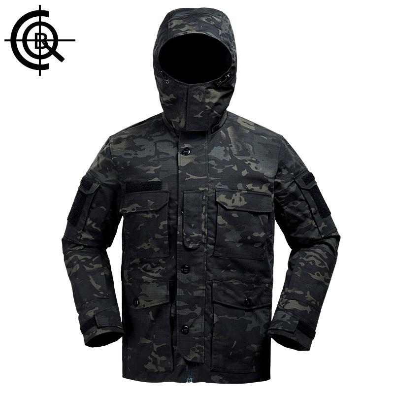 Cqb Tactical Camo Jacket Water Repellent Windproof Camping Fishing Windbreaker-Jackets-Bargain Bait Box-MC camouflage-L-China-Bargain Bait Box
