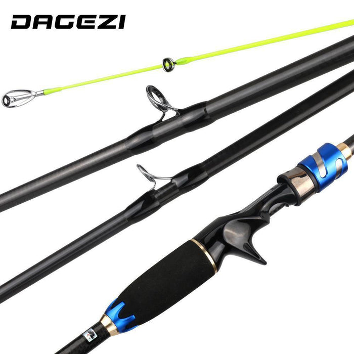 Dagezi Hy Lure Fishing Rod 1.8M/2.1M 4 Section M Power 7-20G Carbon Fiber Travel-DAGEZI Store-1.8 m-Bargain Bait Box