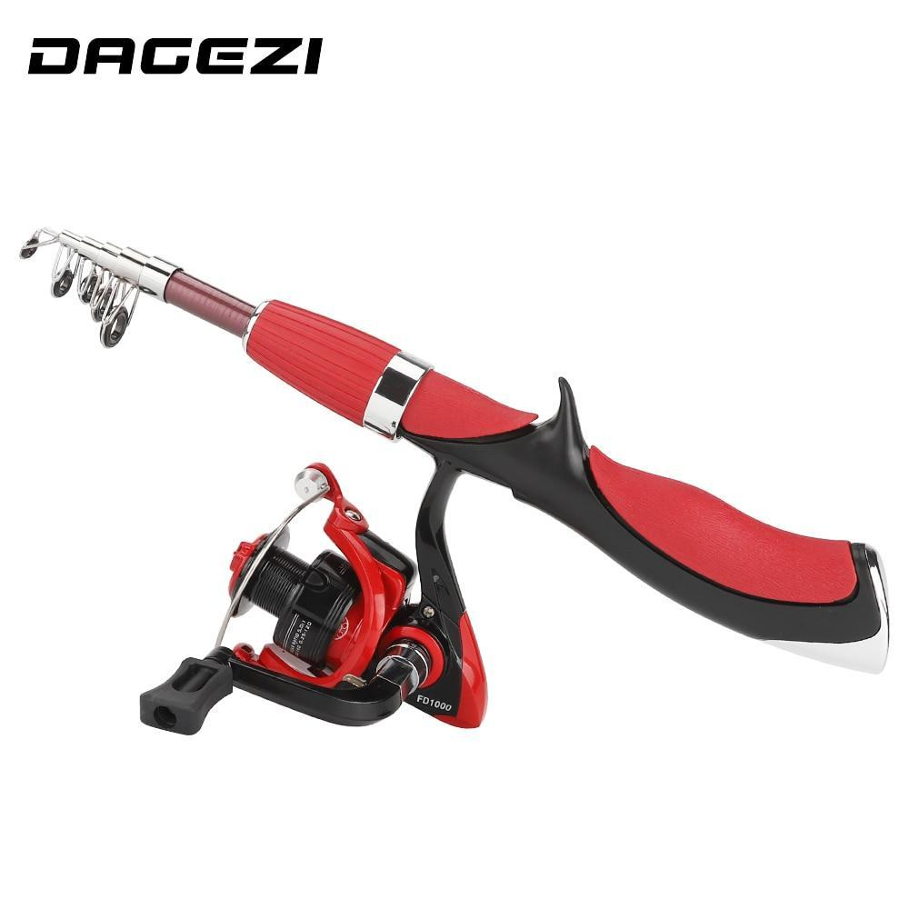 Dagezi Ice Fishing Rod Combo Telescopic Fishing Rod With Ice Fishing Reel-Ice Fishing Rods-DAGEZI Official Store-1000-Bargain Bait Box