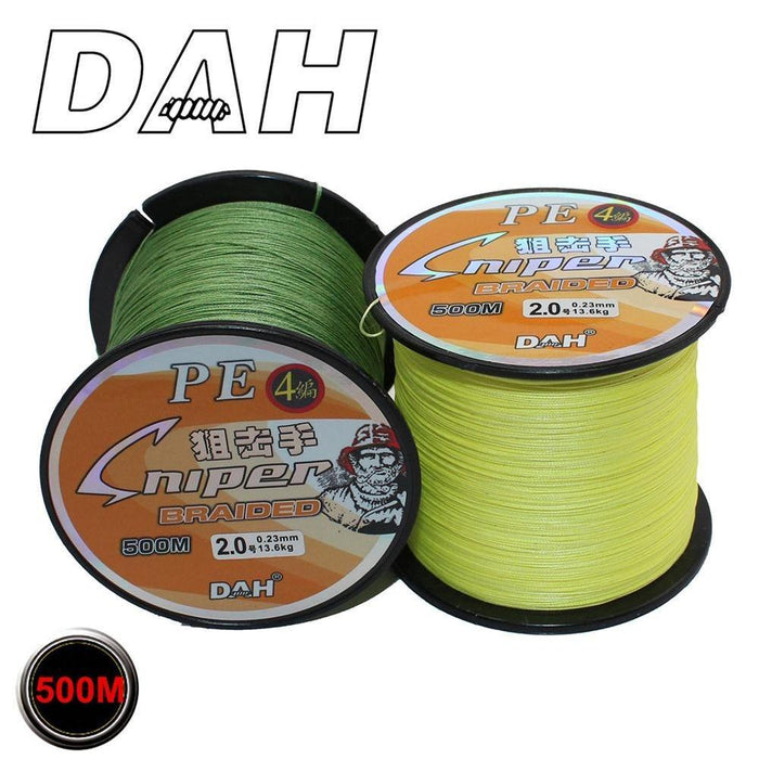 Dah 500M Pe Fishing Line 4 Strands Monofilament Braided Fishing Line Ocean Super-DAH Fishing Tackle Factory Store-White-0.4-Bargain Bait Box