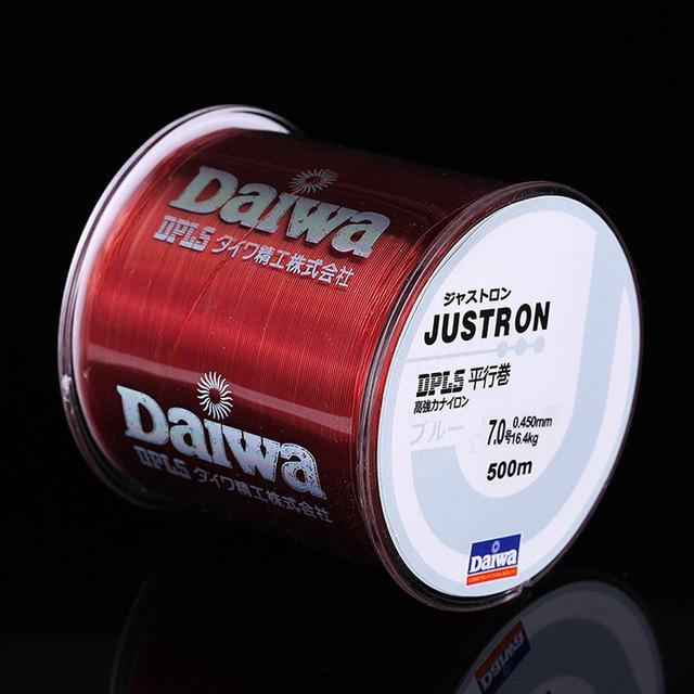 Daiwa 500M Super Strong Daiwa Justron Nylon Fishing Line 2Lb - 40Lb 7 Colors-ACEXPNM Angler & Cyclist's Store-Red-0.4-Bargain Bait Box