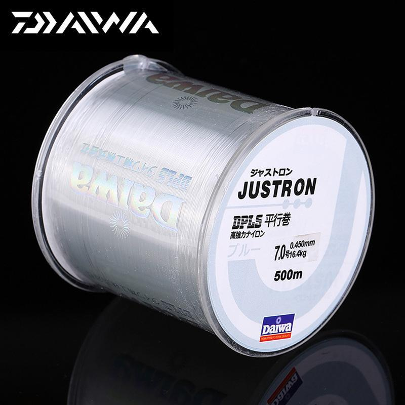 Daiwa 500M Super Strong Daiwa Justron Nylon Fishing Line 2Lb - 40Lb 7 Colors-ACEXPNM Angler & Cyclist's Store-Yellow-0.4-Bargain Bait Box