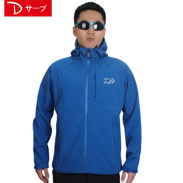 Daiwa Fishing And Jacket Parka Keep Warm Plus Velvet Dawa Waterproof Daiwas-Jackets-Bargain Bait Box-Blue-M-Bargain Bait Box