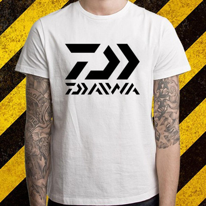 Daiwa Fishinger Logo Men'S White T-Shirt Size S To 2Xl Made T Shirt Short Sleeve-Shirts-Bargain Bait Box-White-S-Bargain Bait Box