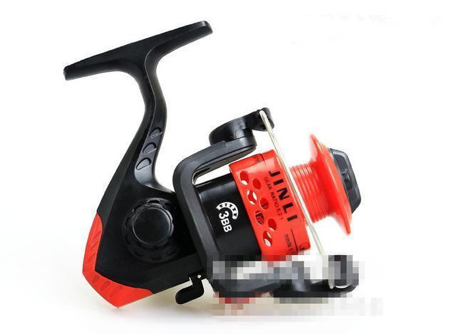 Daiwa Technology Left/Right Hand 5.1:1 3Bb Plastic Front Drag Spinning Reel-Spinning Reels-TinyBear's Store-red-Bargain Bait Box