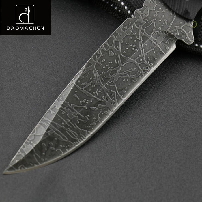 Daomachen Forging Fixed Blade Knife Hunting Knife Stone Washing Black Blade-shoes-Camping Mountaineer Store-Bargain Bait Box