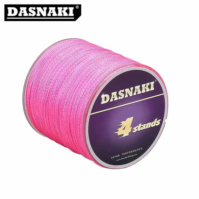 Dasnaki 500M 4 Stands Pe Braided Fly Fishing Line Multifilament 12-100Lb-Fishing Enjoying Store-White-0.6-Bargain Bait Box