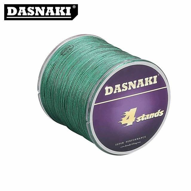Dasnaki Fishing Line 4 Strands 300 Meters Multifilament Pe Braided High Strength-There is always a suitable for you-Green-1.0-Bargain Bait Box