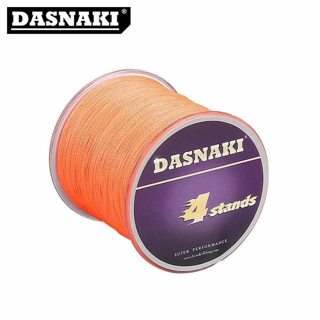 Dasnaki Fishing Line 4 Strands 300 Meters Multifilament Pe Braided High Strength-There is always a suitable for you-Orange-1.0-Bargain Bait Box
