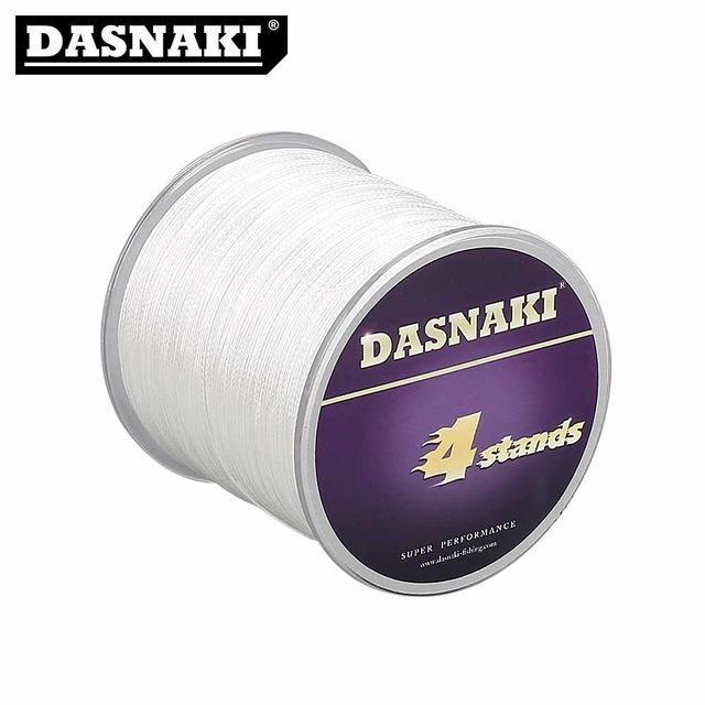 Dasnaki Fishing Line 4 Strands 300 Meters Multifilament Pe Braided High Strength-There is always a suitable for you-White-1.0-Bargain Bait Box