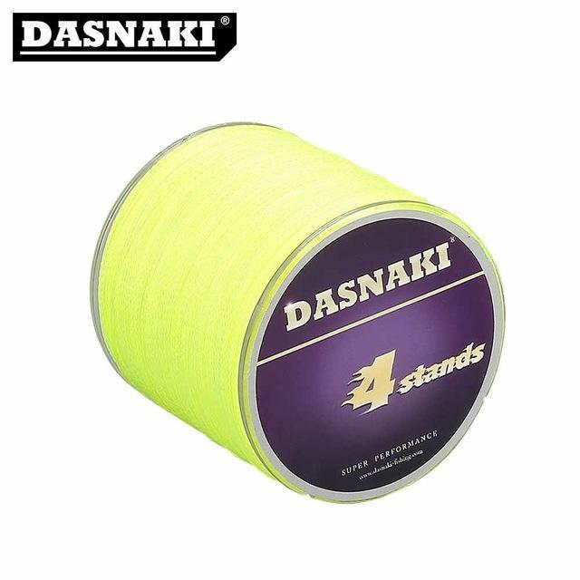 Dasnaki Fishing Line 4 Strands 300 Meters Multifilament Pe Braided High Strength-There is always a suitable for you-Yellow-1.0-Bargain Bait Box