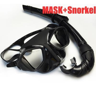 Deepgear Top Scuba Diving Gears And Snorkel Black Silicone Diving Mask Low-Spearfishing-Bargain Bait Box-Mask and Snorkel-Bargain Bait Box
