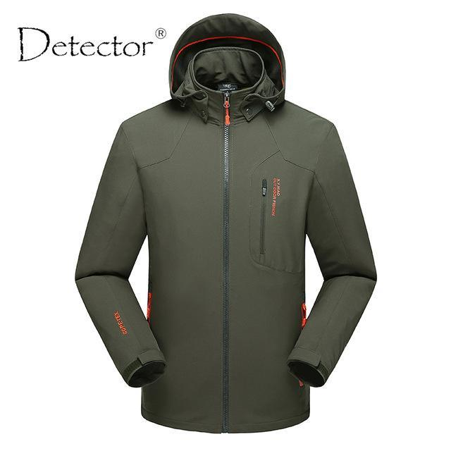 Detector Men Windproof Waterproof Thermal Softshell Jacket Hunting Fishing-Jackets-Bargain Bait Box-Army Green-XL-Bargain Bait Box