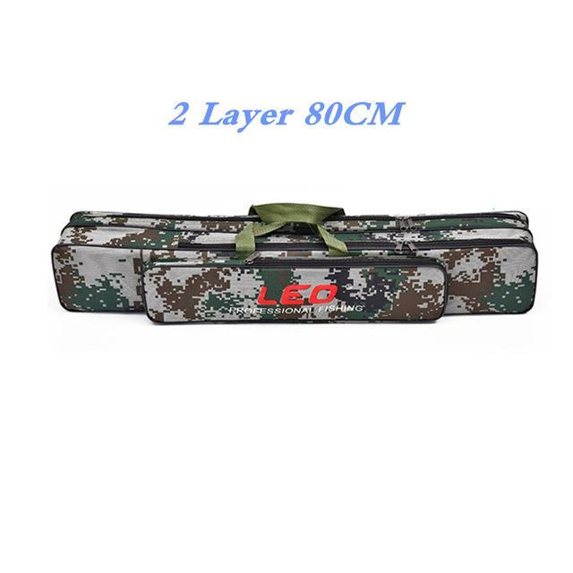 Digital Camo Fishing Bags 600D Canvas 2/3 Layer 80/90Cm Fishing Rod Kit Tackle-Fishing Rod Bags & Cases-Bargain Bait Box-001-Bargain Bait Box