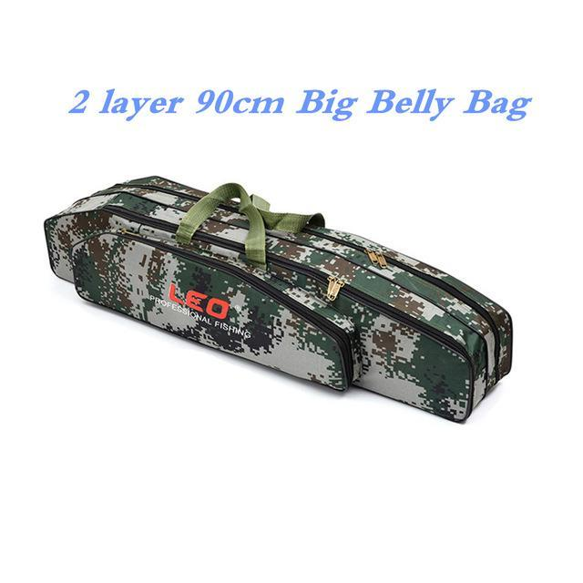 Digital Camo Fishing Bags 600D Canvas 2/3 Layer 80/90Cm Fishing Rod Kit Tackle-Fishing Rod Bags & Cases-Bargain Bait Box-003-Bargain Bait Box
