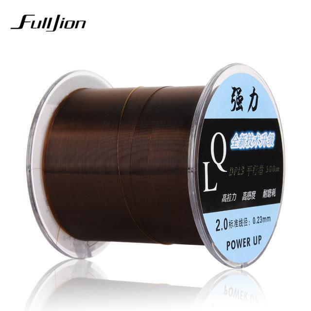 Dongliang 500M Fishing Lines Fluorocarbon Strong Japan Monofilament Nylon Carbon-Ali Fishing Store-Coffee-0.4-Bargain Bait Box