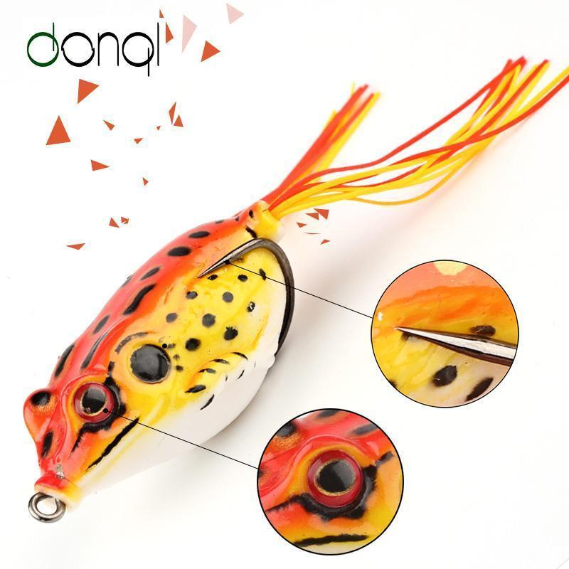 Donql Soft Ray Frog Fishing Lures Double Hooks Top Water Artificial Lure 6G 9G-DONQL Store-6g Dark Green-Bargain Bait Box