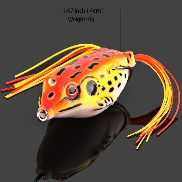 Donql Soft Ray Frog Fishing Lures Double Hooks Top Water Artificial Lure 6G 9G-DONQL Store-6g Red-Bargain Bait Box