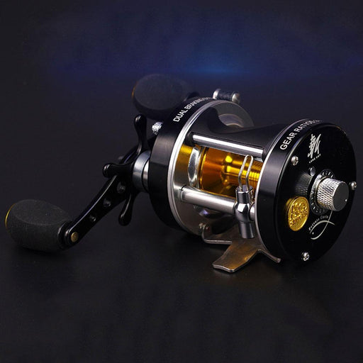 Double Centrifugal Brake 5.2:1Corrosion Resistant Bearings Fishing Reel Spinning-Baitcasting Reels-Shop1582035 Store-8-4000 Series-Left Hand-Bargain Bait Box