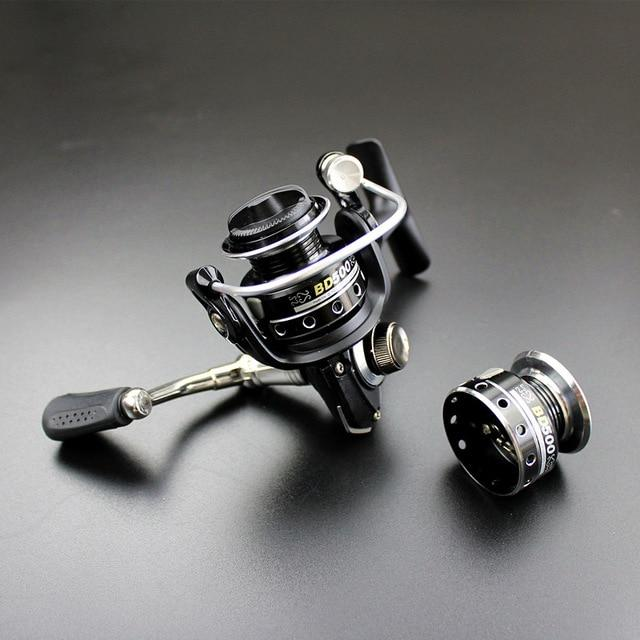 Double Reels Mini Trout Fishing Spinning Reel Salmo Playtcephalus Stainless-Fishing Reels-SHIMANGE Store-black-8-Other-Bargain Bait Box