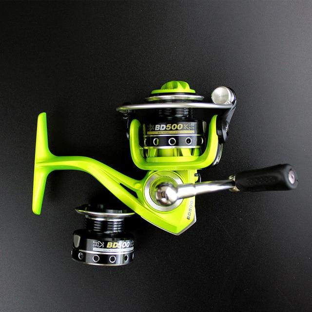 Double Reels Mini Trout Fishing Spinning Reel Salmo Playtcephalus Stainless-Fishing Reels-SHIMANGE Store-green-8-Other-Bargain Bait Box
