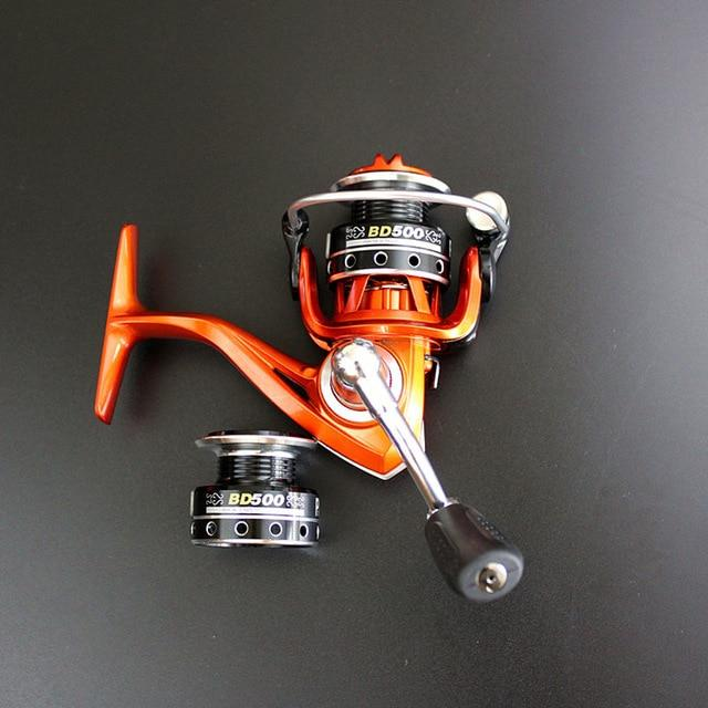 Double Reels Mini Trout Fishing Spinning Reel Salmo Playtcephalus Stainless-Fishing Reels-SHIMANGE Store-orange-8-Other-Bargain Bait Box