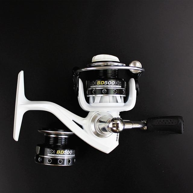 Double Reels Mini Trout Fishing Spinning Reel Salmo Playtcephalus Stainless-Fishing Reels-SHIMANGE Store-white-8-Other-Bargain Bait Box