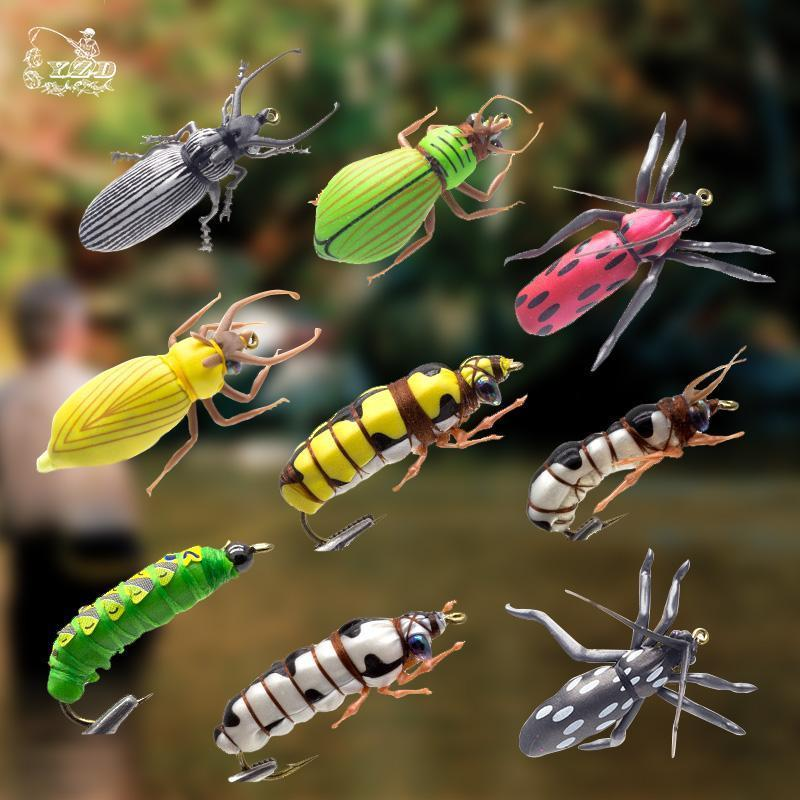 Dry Fly Fishing Flies Set Beetle Insect Lure Fly Kitfor Rainbow Trout Flies Bass-Yazhida fishing tackle-A-Bargain Bait Box