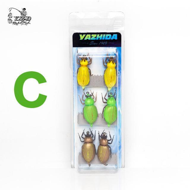 Dry Fly Fishing Flies Set Beetle Insect Lure Fly Kitfor Rainbow Trout Flies Bass-Yazhida fishing tackle-C-Bargain Bait Box