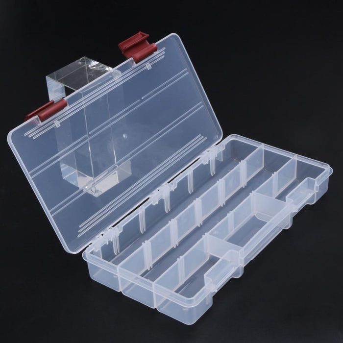 Durable 5 Compartments Transparent Visible Plastic Fishing Tackle Box Storage-Compartment Boxes-Bargain Bait & Durable 5 Compartments Transparent Visible Plastic Fishing Tackle ...