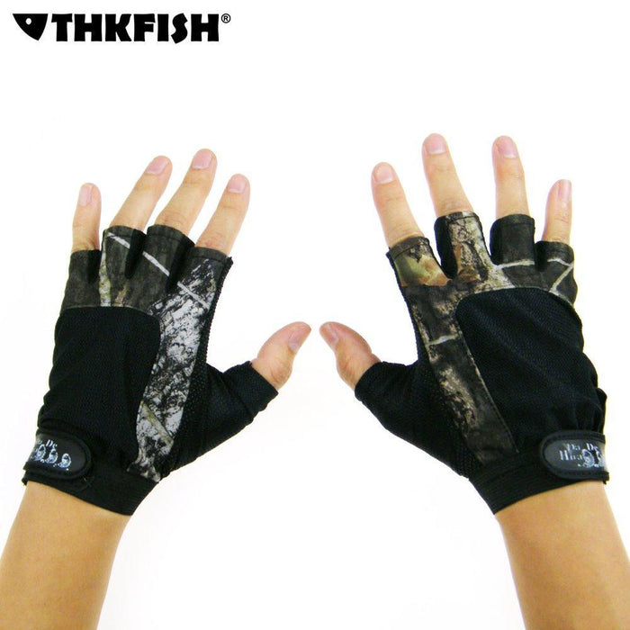 Durable Anti-Slip Fishing Gloves 5 Cut Finger Glove Hunting Fishing Camo Fishing-Gloves-Bargain Bait Box-Bargain Bait Box