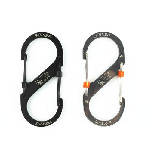 Edc Leisure Stainless Steel 8-Shaped Buckle Snap Clip Mount Climbing Carabiner-Cords & Carabiners-Bargain Bait Box-Large Black-Bargain Bait Box