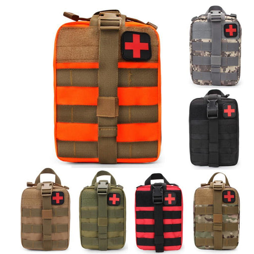 Edc Molle Tactical Pouch Bag Emergency First Aid Kit Bag Camping Climbing-Emergency Tools & Kits-Bargain Bait Box-orange-Bargain Bait Box