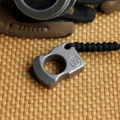 Edc Titanium Alloy Multipurpose Single Holes Tools Meteorite Keychain Outdoors-HA EDC Tools Store-A1-Bargain Bait Box